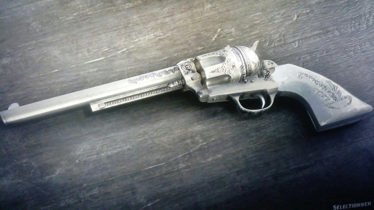 Rdr2 Best Cattleman W 1er Revolver Full Custom Red Dead