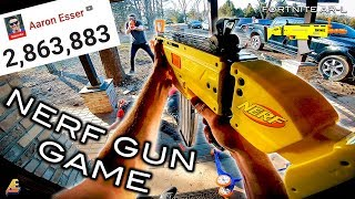 NERF GUN GAME | 2 MILLION SUBSCRIBERS! First Person Shooter