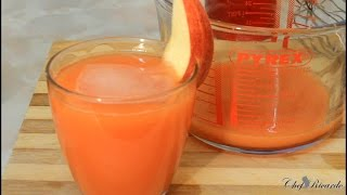 Jamaican Fresh home made drink red apple  and carrot , ginger,
