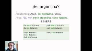 Видеоурок итальянского языка 1
