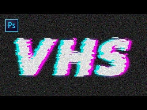 Tuto Photoshop : Effet Glitch / VHS Sur Un Texte !