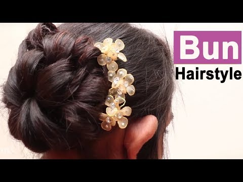 Easy Bun Hairstyle Updo Hairstyle Easy Hairstyles For Long Hair New Hairstyle For Girls