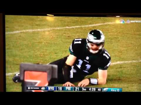 Carson Wentz Possible Concussion injury