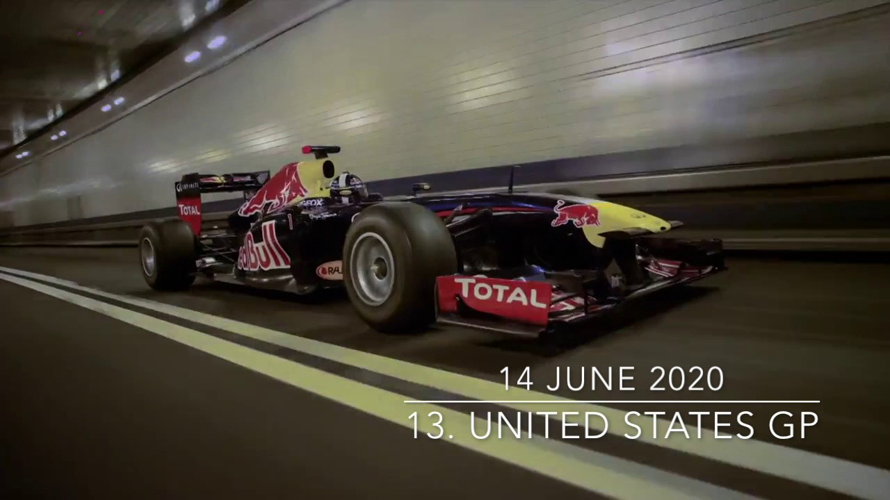 Formula 1 Race Calendar 2020 2020 F1 Season Calendar   YouTube
