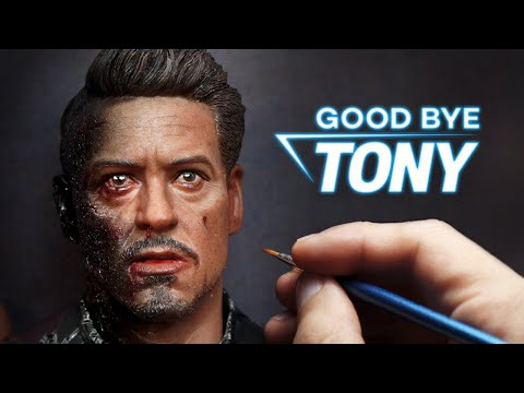 Sculpting Realistic Tony Stark/Iron Man Sculpture Timelapse - Avengers : Endgame