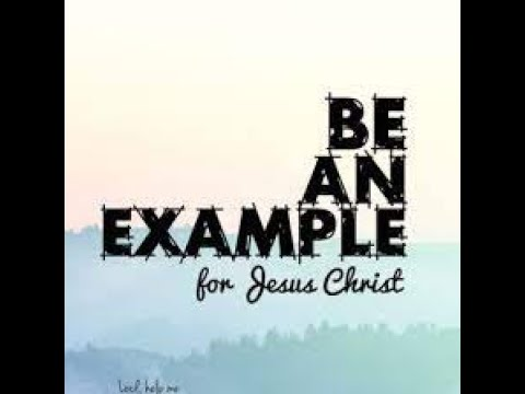 Set an example!@Oasis Church Luxembourg 09/05/2021