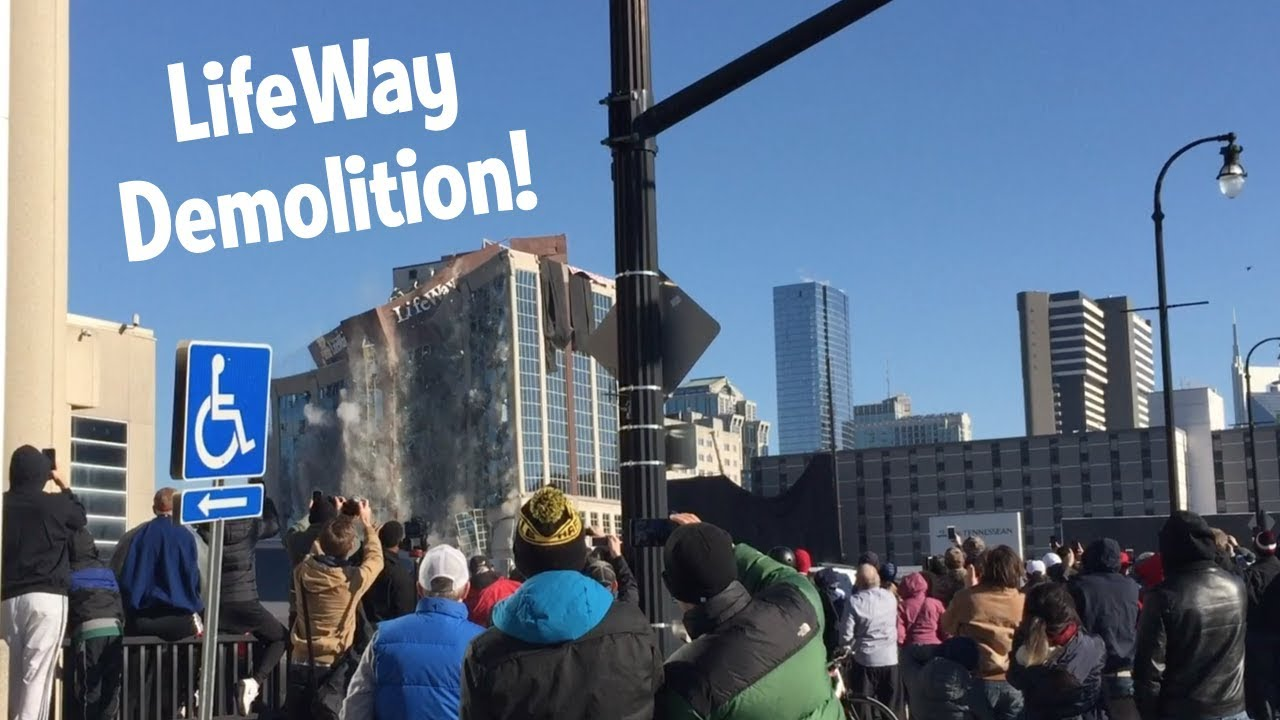 Demolition of LifeWay tower goes 'perfectly'