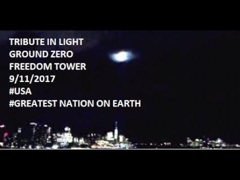 Tribute in Light Ground Zero Freedom Tower NYC September 11 9/11/2017
