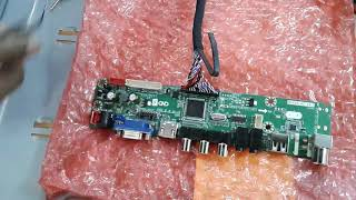 How to install V59 universal LED TV board   Samsung 40 inch Tv