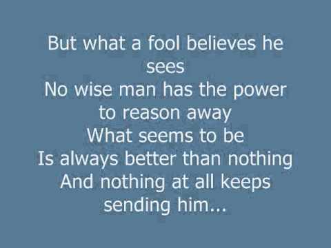 Doobie Brothers  What A Fool Believes - Karaoke