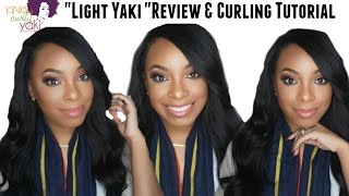 "Kinky Curly Yaki ""Light Yaki"" Review & Hair Curling Tutorial"