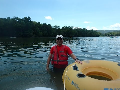 Tubing on the Shenandoah river near Harpers Ferry. WV