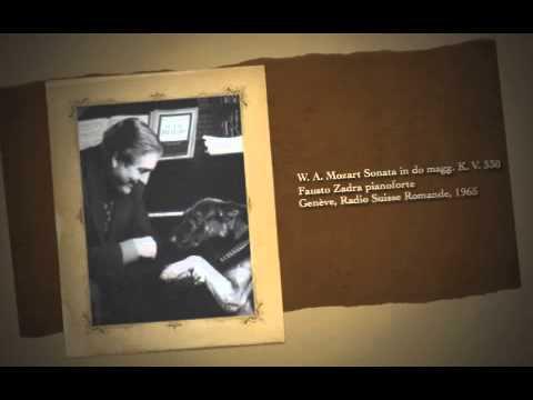 W. A. Mozart Sonata in do magg. K. V. 330 Fausto Zadra pianoforte Genève 1965