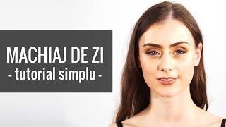 Machiaj de zi simplu si natural - tutorial pentru ochi caprui, verzi si albastri