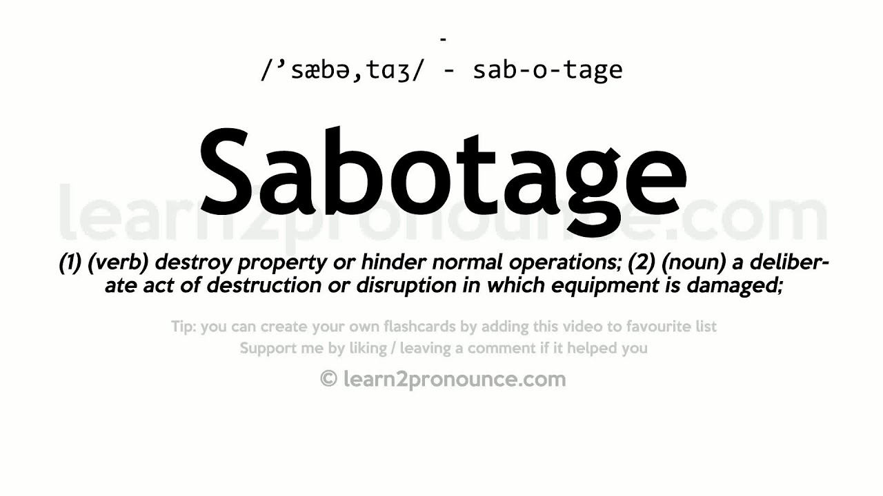 How To Pronounce Sabotage In British English Youtube 7