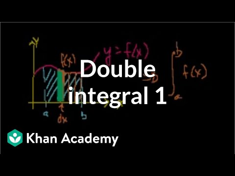 Double integral 1 | Double and triple integrals | Multivariable Calculus | Khan Academy