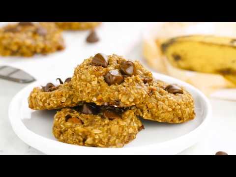 Peanut Butter Banana Oatmeal Cookies