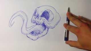How to Draw a Venom Skull - Skull Drawings