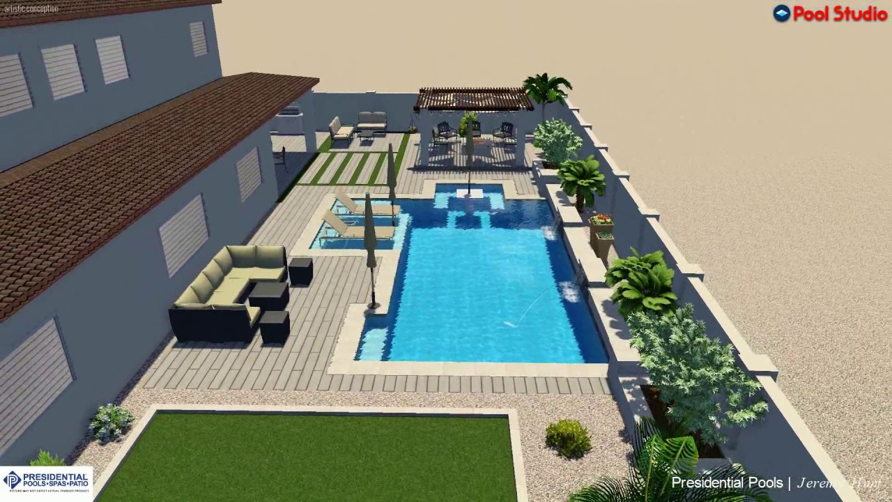 Kao Family Backyard Design Concept By Jeremy Hunt At Presidential Pools Spas And Patio In Surprise