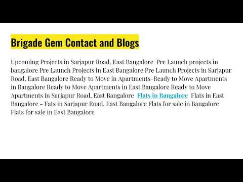 About Brigade Gem Sarjapur Road Brigade Group Colonial Style Home