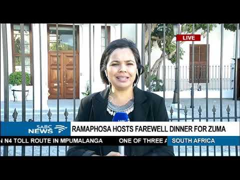 Ramaphosa hosts farewell dinner for Zuma - Abra Barbier updates