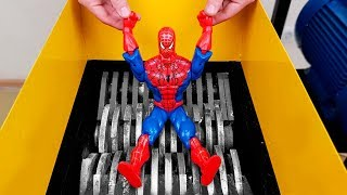 experiment: Shredding Machine Vs Spider Man