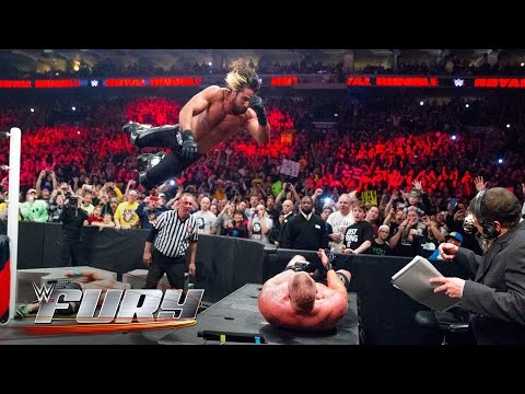 19 elbow drops that smashed tables: WWE Fury
