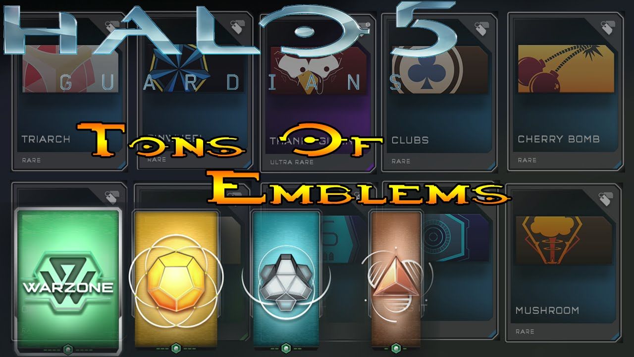 Halo 5 REQ Pack Opening! Tons of Emblems! (Halo 5 Guardians)
