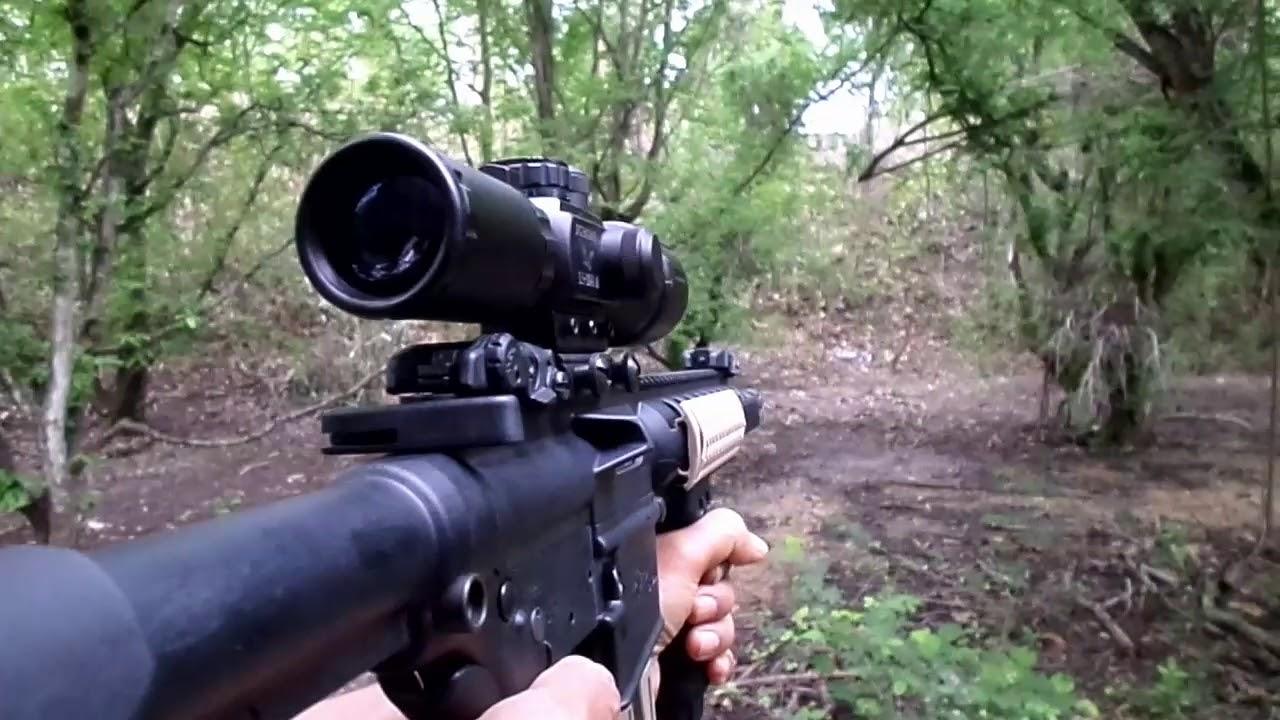 ปืนลูกกรดไรเฟิลจู่โจมMP-15 .22 (Assault rifle MP-15 .22 LR)แต่งหล่อ