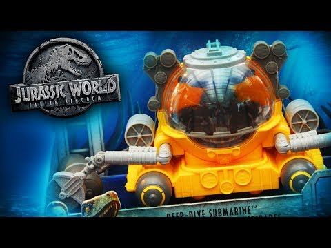 Submarine Mosasaurus Toy & MORE!   Jurassic World: Fallen Kingdom