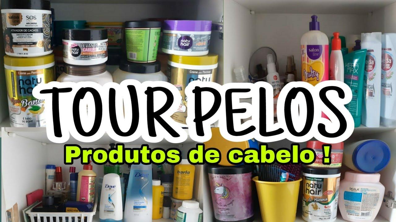 TOUR PELOS MEUS PRODUTOS DE CABELO. #CARMEMLÚCIA
