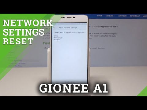 Reset Network Settings in GIONEE A1 - Restore Network