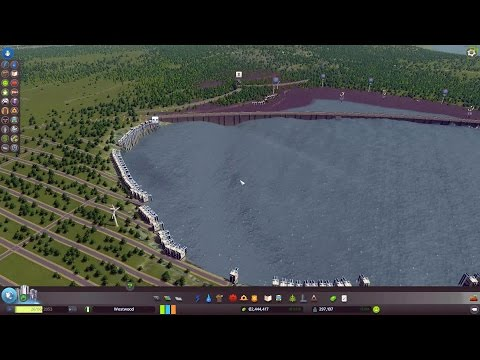 Cities: Skylines - Sewage-Powered Hydroelectric Dam