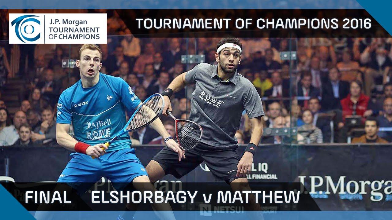 Squash: Tournament of Champions 2016 - Men's Final Highlights: Elshorbagy v Matthew