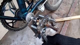 При наличии инструмента можно сделать бюджетный съемник для велосипеда