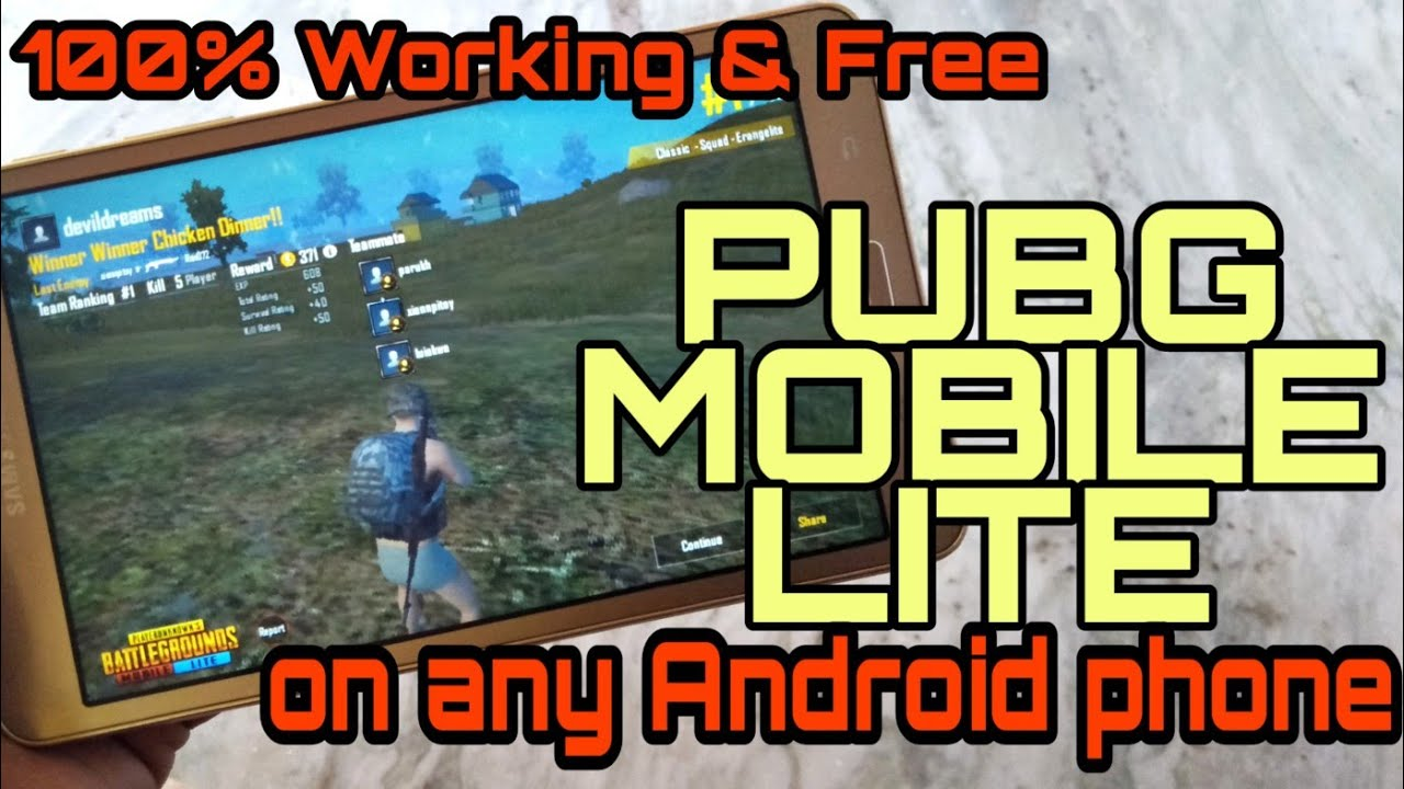 Download and Run PUBG Mobile Lite on Android Device! 100% Working