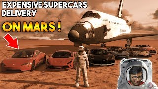GTA 5 : EXPENSIVE SUPERCARS DELIVERY ON MARS !!