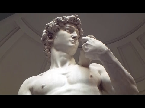 David marble statue at Florence - David Escultura de Miguel Angel Florencia