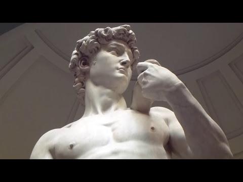 David marble statue at Florence  David Escultura de Miguel Angel Florencia