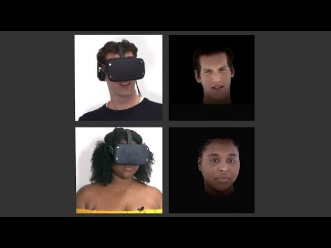 Facebook VR Research: Photorealistic Face Tracked Avatars