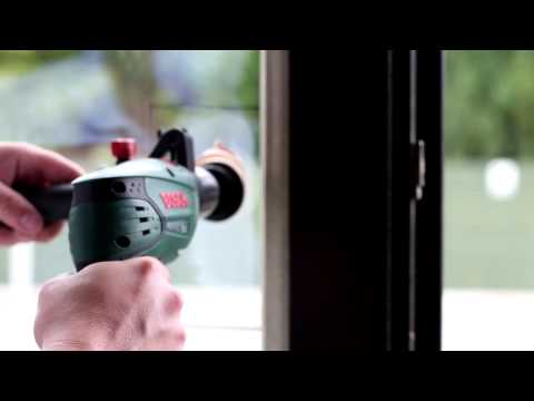 How to remove sandpaper scratches from glass window by using GP-WIZ DIY kit