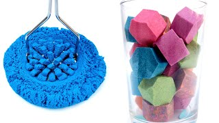 Satisfying Video - Very Relaxing Kinetic Sand Cutting ASMR - Sand Town #1