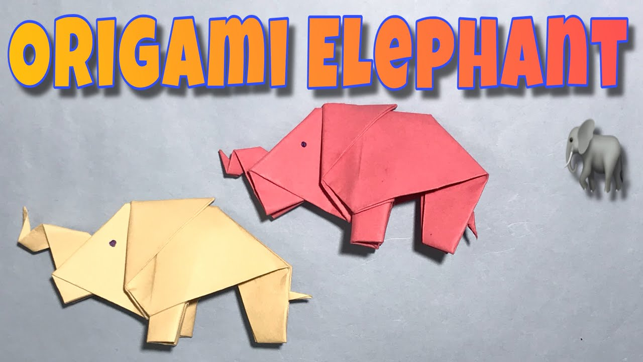 Origami Paper Elephant 🐘| How To Make Easy Origami Paper Elephant  Tutorial | Easy Origami Elephant