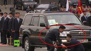 ¿Nervios? Chocan dos miembros de la comitiva de Kim Jong-un
