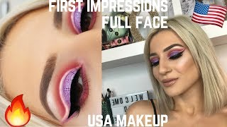 FULL FACE FIRST IMPRESSIONS - MAKEUP I BOUGHT IN USA 🇺🇸|| GIO DREVELI ||