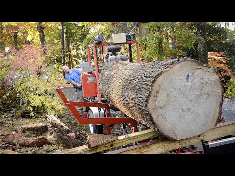 From Tree to Quartersawn Lumber using a Bandsaw Mill