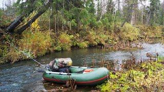 Сплав с рыбалкой, день 1(Осенний сплав по лесной речушке, ловля хариуса спиннингом., 2016-11-03T09:25:53.000Z)