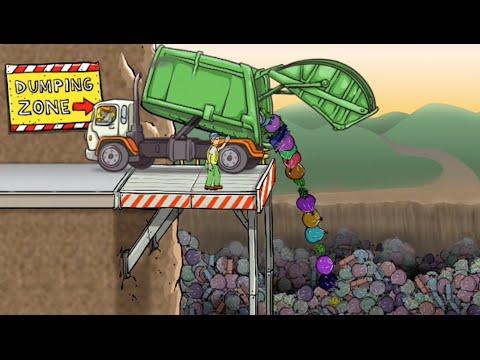 เกมส์ Garbage truck dumpper รถบรรทุก รถขยะ เก็บขยะ ไปดั้ม - TheKidstoy