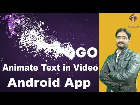 Legend Animate Text in Video Android App  Simple Way
