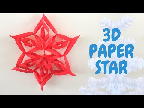 How to Make a 3D Paper Star | Easy Christmas Decoration